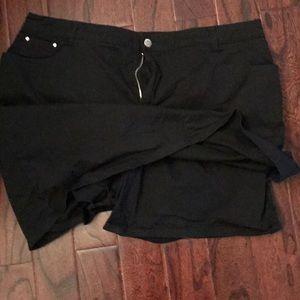 croft & barrow Skirts - Black Twill Skort, Skirt with Shorts